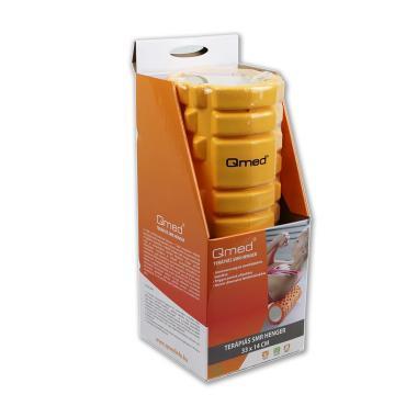 QMED Terápiás SMR henger 33x14cm (narancssárga/fekete)
